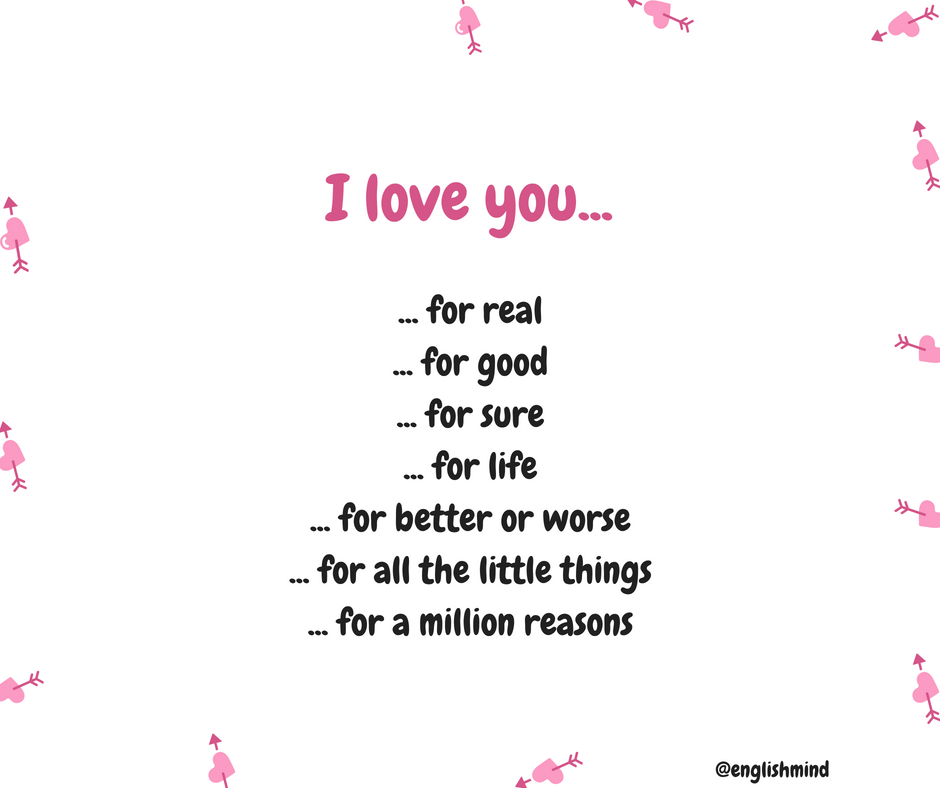 I love you for real