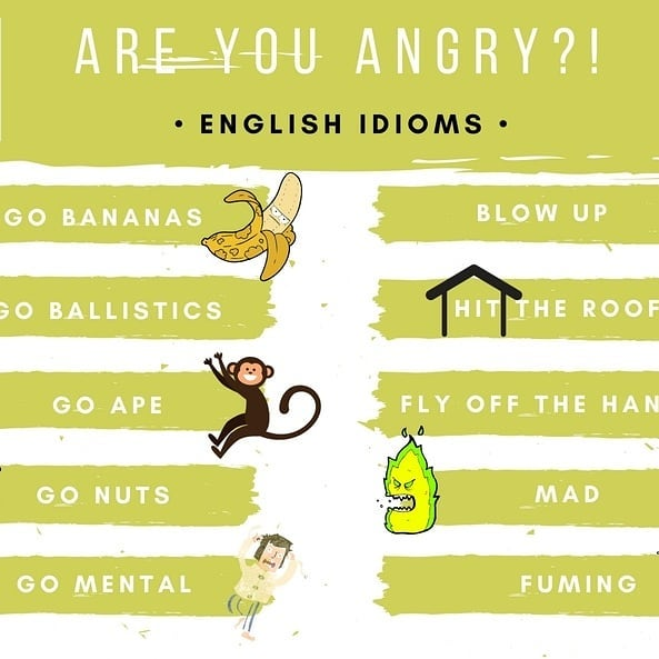 Download free English flashcards - angry idioms