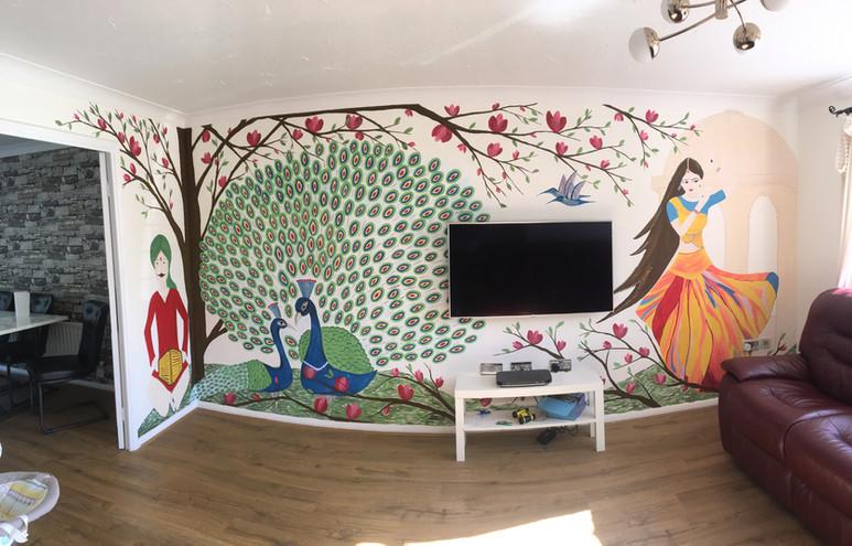 Indian art inspired mural