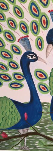 Peacocks mural