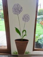Lilac wild garlic flower mural