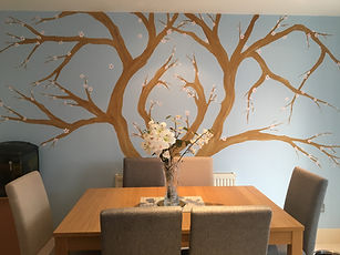 Dining room family tree mural