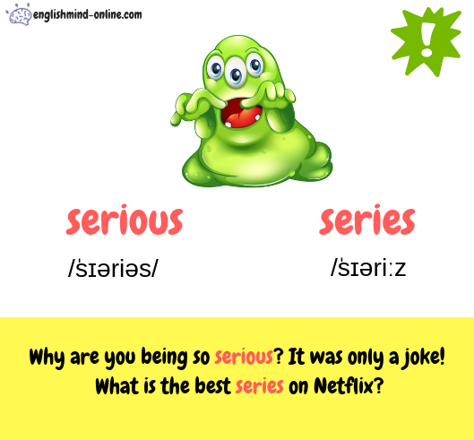 serious vs series - English confusing words -Learn English Visually