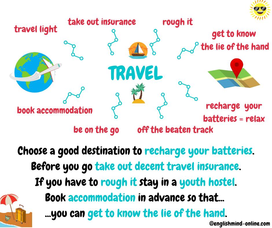 Travel vocabulary in English