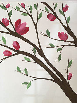 Tree branches mural