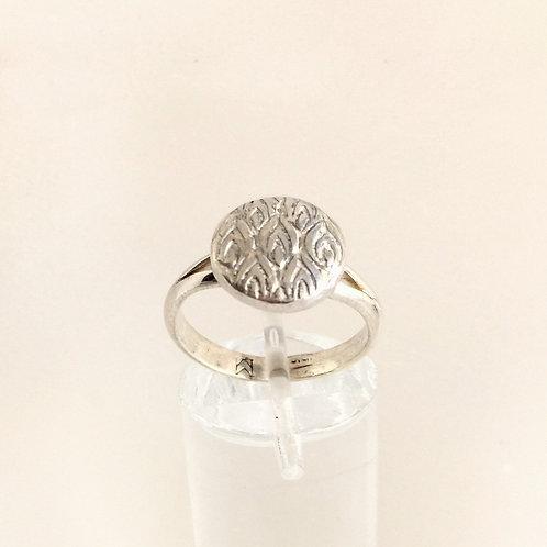 Peacock Button Ring