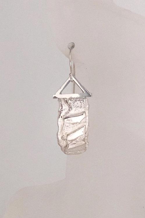 fused silver earrings