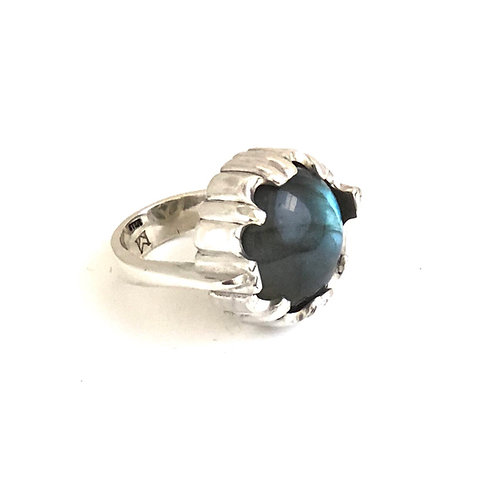 Carved Labradorite ring
