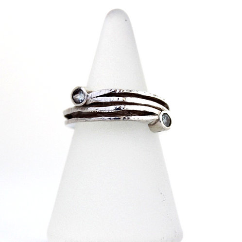 Anticlastic Ring with Topaz