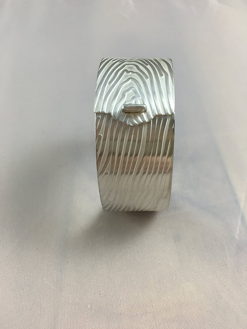 Hinged Bracelet Textured with Wood Grain