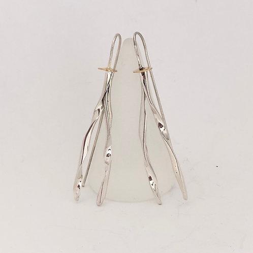 Twisted wishbone earrings