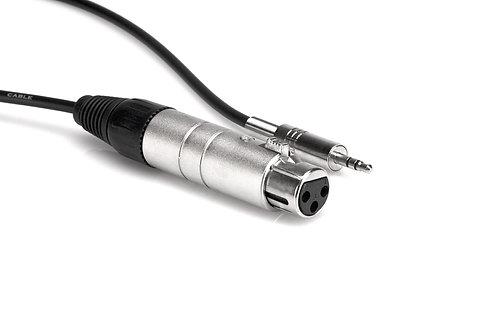 XLR3F to 3.5 mm TRS Impedance Transformer : Hosa