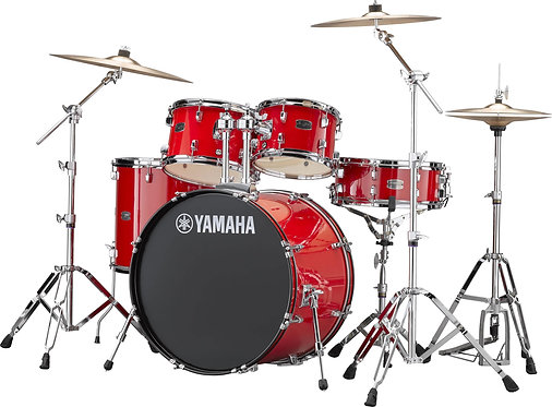 RDP2F56W-RD Rydeen 5-Piece Drum Kit Hot Red with Hardware : Yamaha