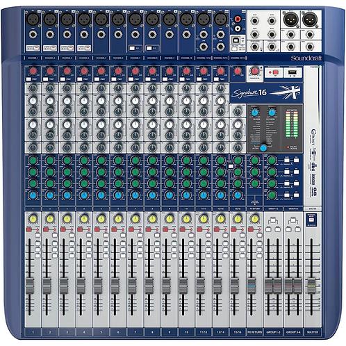 Signature 16 Analog Mixer : Soundcraft