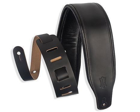 Padded Black Leather - Black : Levy's