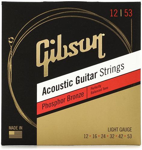 SAG-PB12 Phosphor Bronze Acoustic Guitar Strings - .012-.053 - Gibson