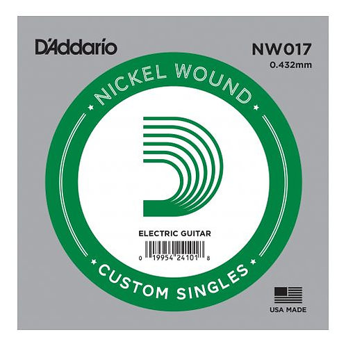 NW017 Nickel Wound Electric - D'addario