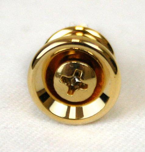 G13SB0006 Gold Strap Button & Screw : Martin
