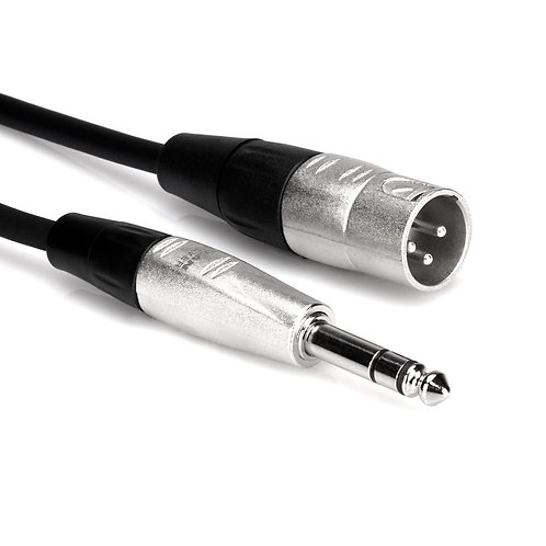 5ft REAN 1/4-inch TRS Male to XLR3 Male Pro Balanced Interconnect : Hosa