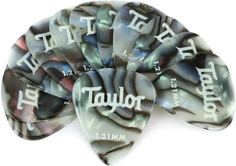 Celluloid 351 Guitar Picks 12-pack - Abalone 1.21mm : Taylor