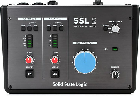 SSL2  (2-in/2-out) USB-C Audio Interface Mac/PC-SSL