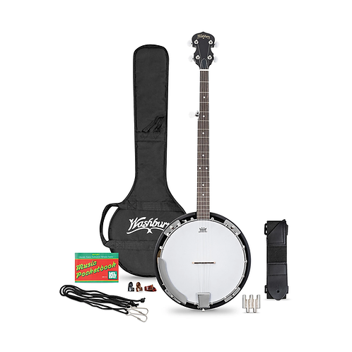 B8K-A Americana 5-String Resonator Banjo Pack : Washburn