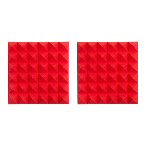 """2 Pack of Red 12x12"""" Acoustic Pyramid Panel : Gator Frameworks"""