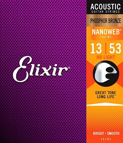 16182 Nanoweb Coated HD LIGHT Phosphor Bronze : Elixir