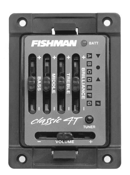 Classic 4 Deluxe Acoustic Guitar Preamp : Fishman