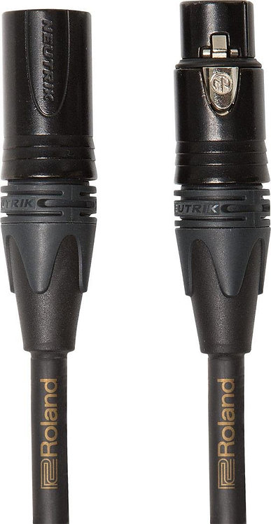 10ft XLR Microphone Cable Gold Series : Roland
