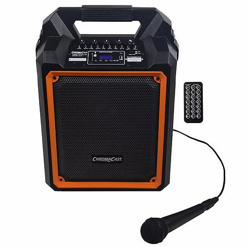 Portable 2 Channel 2 Way 60 watt Rechargeable Bluetooth PA Speaker : Chromacast