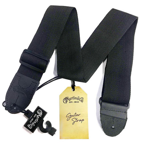 Nylon Guitar Bass Strap with Leather Ends : Martin