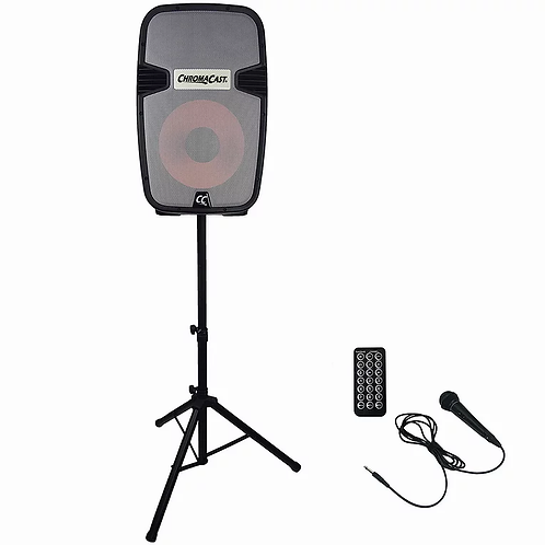 Portable PA 2 Channel 2 Way Rechargeable Active 120W Sound System : Chromacast