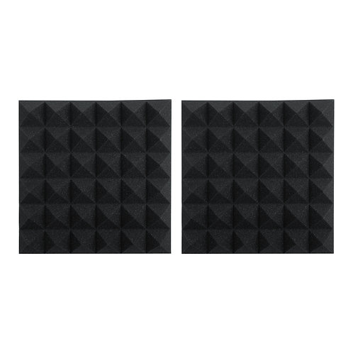 """2 Pack of Charcoal 12x12"""" Acoustic Pyramid Panel : Gator Frameworks"""