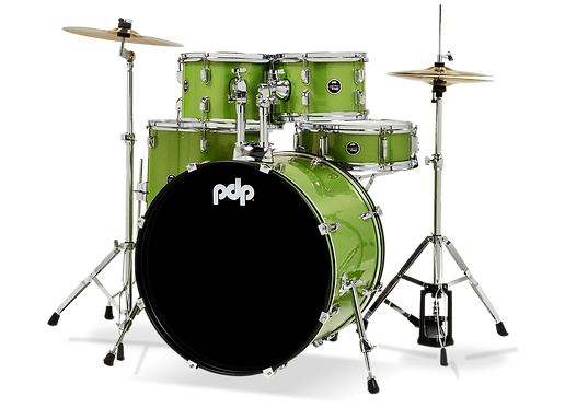 5-Piece Complete Kit - Center Stage -  Electric Green Sparkle : PDP