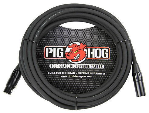 100ft XLR Microphone Cable Heavy Duty : PigHog