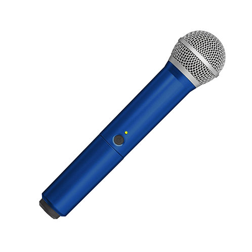 WA712-BLU Colored Handle Only for BLX2/PG58 Wireless Transmitters : Shure