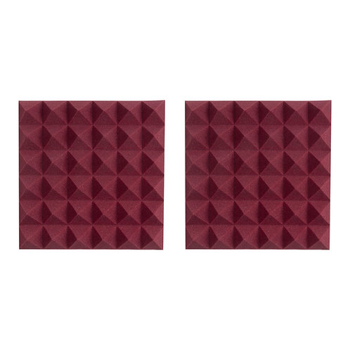 "2 Pack of Burgundy 12x12"" Acoustic Pyramid Panel : Gator Frameworks"