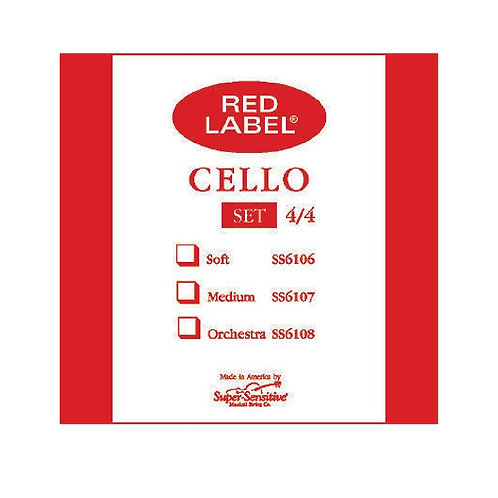 6107 Red Label Cello 4/4 Set - Supersensitive
