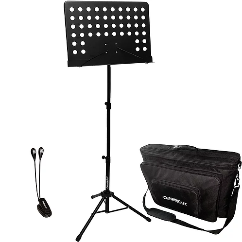 Music Stand Performer's Pack with Light and Bag : ChromaCast CC-PS-MSTANDKIT