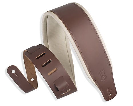 "Leather Strap 3"" w/Foam Brown Cream : Levy's"