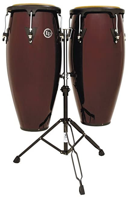 LP646NY-DW City Series Conga Set with Stand : Latin Percussion