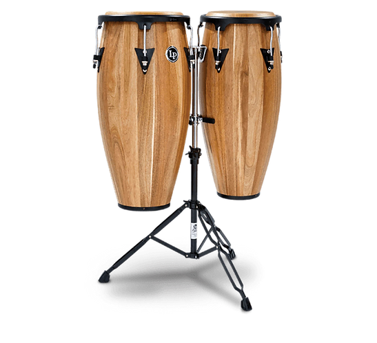 """LPA647-SW Aspire Wood Congas 11"""" and 12"""" Set with Dou : Latin Percussion"""