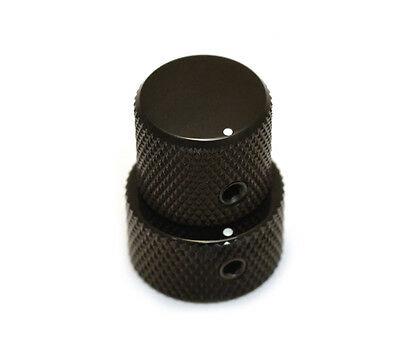 Black Mini Stacked Knob for most Bartolini, Duncan & EMG : AllParts