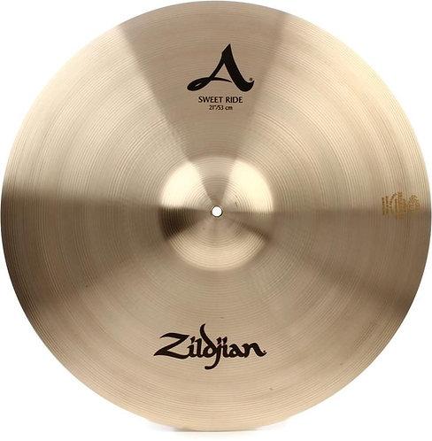 Used 21 inch A Zildjian Sweet Ride - Zildjian