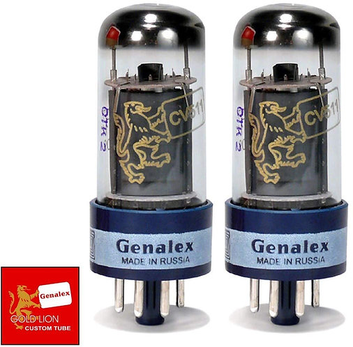 6V6GT/CV-511-D Power Tubes - Matched Duet : Gold Lion