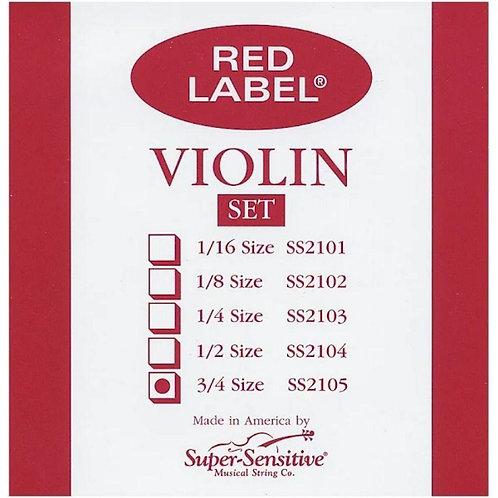 SS2105 3/4 Violin Strings - Supersensitive