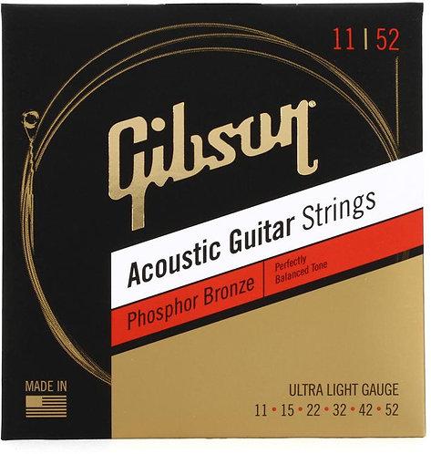 SAG-PB11 Phosphor Bronze Acoustic Guitar Strings - .011-.052  : Gibson