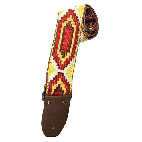"""Deluxe Vintage Series 2"""" Jacquard Strap - Yellow/Red Multi : Heller"""