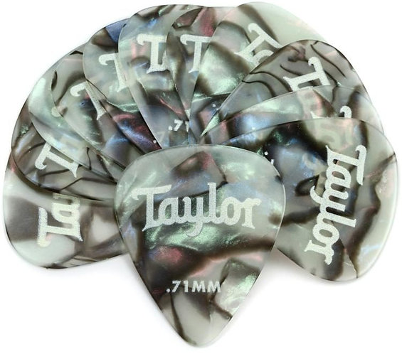 Celluloid 351 Guitar Picks 12-pack - Abalone .71mm : Taylor